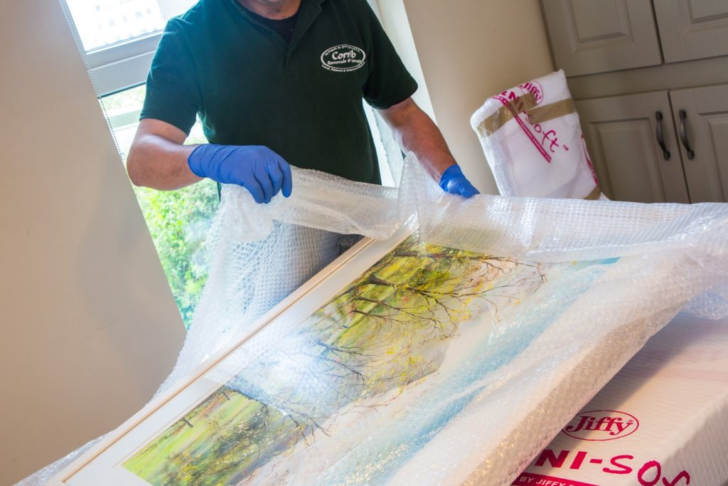 Moving House - packing a painting